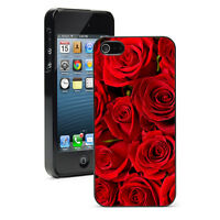 For Apple iPhone X XS Max XR 5 6 6s 7 8 Plus Hard Case Cover 5 Red Roses Flowers