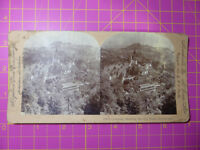 Antique Stereoscope Photograph City Walls, Lucerne, Switzerland 1901 Stereoview