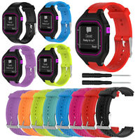 Replacement Silicone Sport Watch Band Strap For Garmin Forerunner 25 GPS W/ Tool