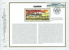 FEUILLET CEF / DOCUMENT PHILATELIQUE / CHINON 1993 CHINON