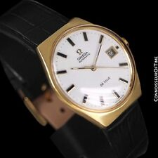 1970's OMEGA DE VILLE Vintage Mens Automatic Retro Watch - 18K Gold Plated