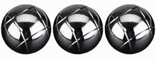 GetGo Jeu de 3 boulles de petanque acier chromé (Diamètre 73 mm) 720 g