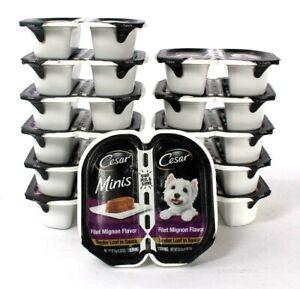12 Count Cesar 1.32 Oz Minis Filet Mignon Flavor Tender Loaf In Sauce Dog Food