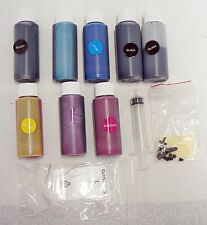 EIGHT INK JET REFILL BOTTLES WITH INSRUCTIONS