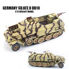 WWII Germany Sd.Kfz.8 DB10 Half Track Finished 1/72 land Model PMA diecast