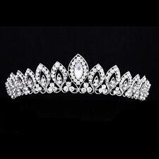 Gorgeous Bridal Rhinestone Crystal Prom Wedding Crown Tiara 7983