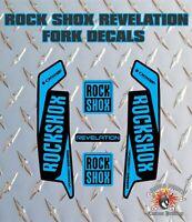ROCK SHOX Revelation FORK Stickers Decals Mountain Bike Down Hill MTB blue