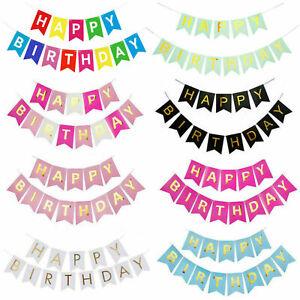 Multicoloured Happy Birthday/Retirement/Wedding/Christmas Bunting Banners Decor