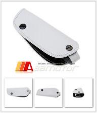White Leather Key Fob Holder Cover for BMW E30 E34 E36 E39 E46 X3 X5 Z3 Z4 Mini