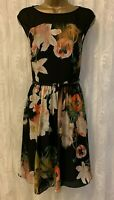 Ted Baker Cameela Opulent Bloom Floral Pleat Ascot Party Cocktail Dress UK 14 42