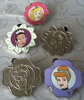 Princess Flower Collection 2011 Hidden Mickey Set WDW Choose a Disney Pin
