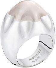 MONTBLANC 104679 importante anello in argento 925 e quarzo