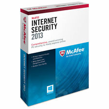 McAfee Internet Security Antivirus 2013 - 3 PCs 1 Year - New