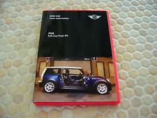 MINI OFFICIAL COOPER S CLUBMAN AUTOSHOW DVD PRESS BROCHURE 2008 USA EDITION