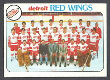 1978 79 OPC O PEE CHEE 197 DETROIT RED WINGS TEAM UNMARKED NM HOCKEY CARD