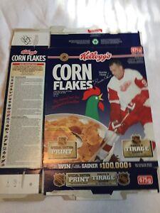 Gordie Howe 1995 Kellogs  Corn Flakes cereal  box : empty,flattened.