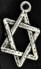 10x Silver Star Of David FESTIVE Charms Pendants Bracelets Jewellery Crafts TAGS