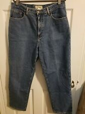 LL Bean  Womens Double L Fleece Lined Jeans Size 16 Relaxed Fit Dark Wash Blue.