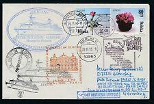 81589) LH FF Berlin - Paris 28.10.95, Brief Aufg Swinemünde Polen SP MS BERLIN