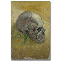 Skull Van Gogh Still Life Painting Famous Art Silk Poster 12x18 32x48inches