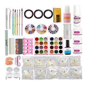 Nail Art Kits Dryer Liquid Acrylic Powder Natural Nail Tips Brush Glue Tools Set