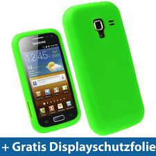 Grün Silikon Tasche für Samsung Galaxy Ace 2 I8160 Android Schutz Hülle Etui