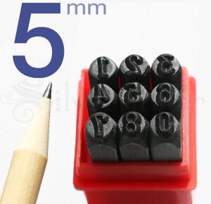 5MM NUMBER PUNCH STAMP SET 9pc Hardened Bearing Steel Metal Stamping Tool Kit