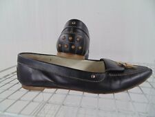 TODS BLACK CALF SKIN DRIVER SHOES WOMEN SIZE 9