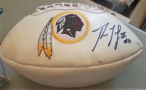 Robert Griffin III Washington Redskins Signed Logo Football JSA Sticker