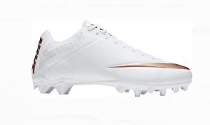 NWT Nike Vapor Lacrosse Football Cleats White Rose Gold 856507-101 Men size 7.5
