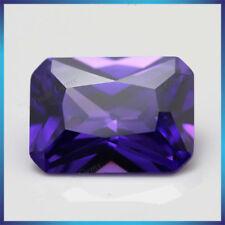 Purple Sapphire 7.48Ct 10x12MM Emerald Cut AAAAA Loose Gemstone