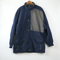 Champion Vintage Padded navy grey long jacket parka Large XL size