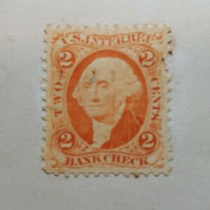 US Revenue Stamp - 1862-71 2-cent Bankcheck Orange