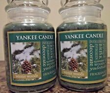 Yankee Candle Winter Woods  22 oz  Lot of 2 NEW   Wonderful Scent  Free Shipping