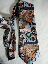 REGENCY  Tie  Novelty - Girl's Face -Asian Avatar Japanese  ANIME  Blue Copper