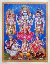 14x19 Inch Poster Brahma Vishnu Shiva Lakshmi Saraswati Ganesha