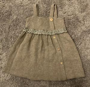 Zara Little Girls Brown Knit Dress - Age 3 - 4