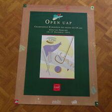 Affiche Golf du Prieuré  Open UAP championnat moins de 25 ans 1991