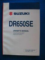 SUZUKI 2009 DR650SE DR 650 BRAND NEW ORIGINAL FACTORY OWNERS MANUAL P775