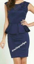BNWT LIPSY NAVY SEQUIN TOP DESIGN SWEETHEART PEPLUM DRESS SIZE 10 RRP £60