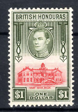 British Honduras KGVI  $1 Dollar SG159 Cat £50  mmint 1938 [B0321]