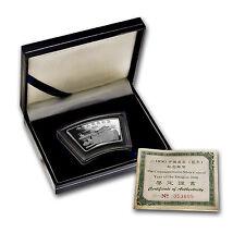 2000 China 1 oz Silver Fan Year of the Dragon (w/Box & COA) - SKU #10220