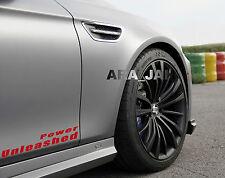 Power Unleashed Vinyl Decal sport car racing sticker logo emblem RED