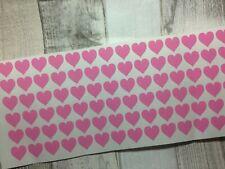 102 Mini Hearts Valentines day wedding Love Wine Glass mug Vinyl Decal Stickers