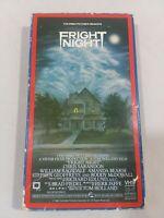 RARE Vintage 1986 FRIGHT NIGHT VHS Video Horror Vampire Chris Sarandon