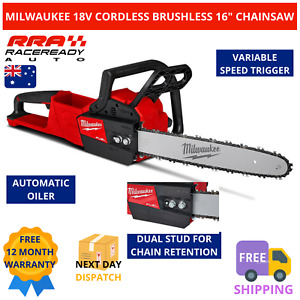 """Milwaukee Cordless Brushless Chainsaw 18V M18 FUEL 16"""" 405mm Bar Chain M18FCHS-0"""