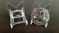 "10 Adjustable 3-1/8"" Display Stand Easel Fire Police EMT Rescue Military Badge"