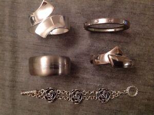 Bangles And Bracelets White Metal Including Handmade Moda