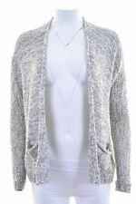 HOLLISTER Womens Cardigan Sweater Size 6 XS Grey Oversized FW01