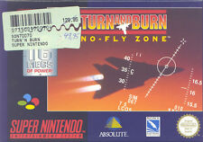 SUPER NINTENDO SNES NES-TURN AND BURN-NO FLY ZONE-TOP!!!